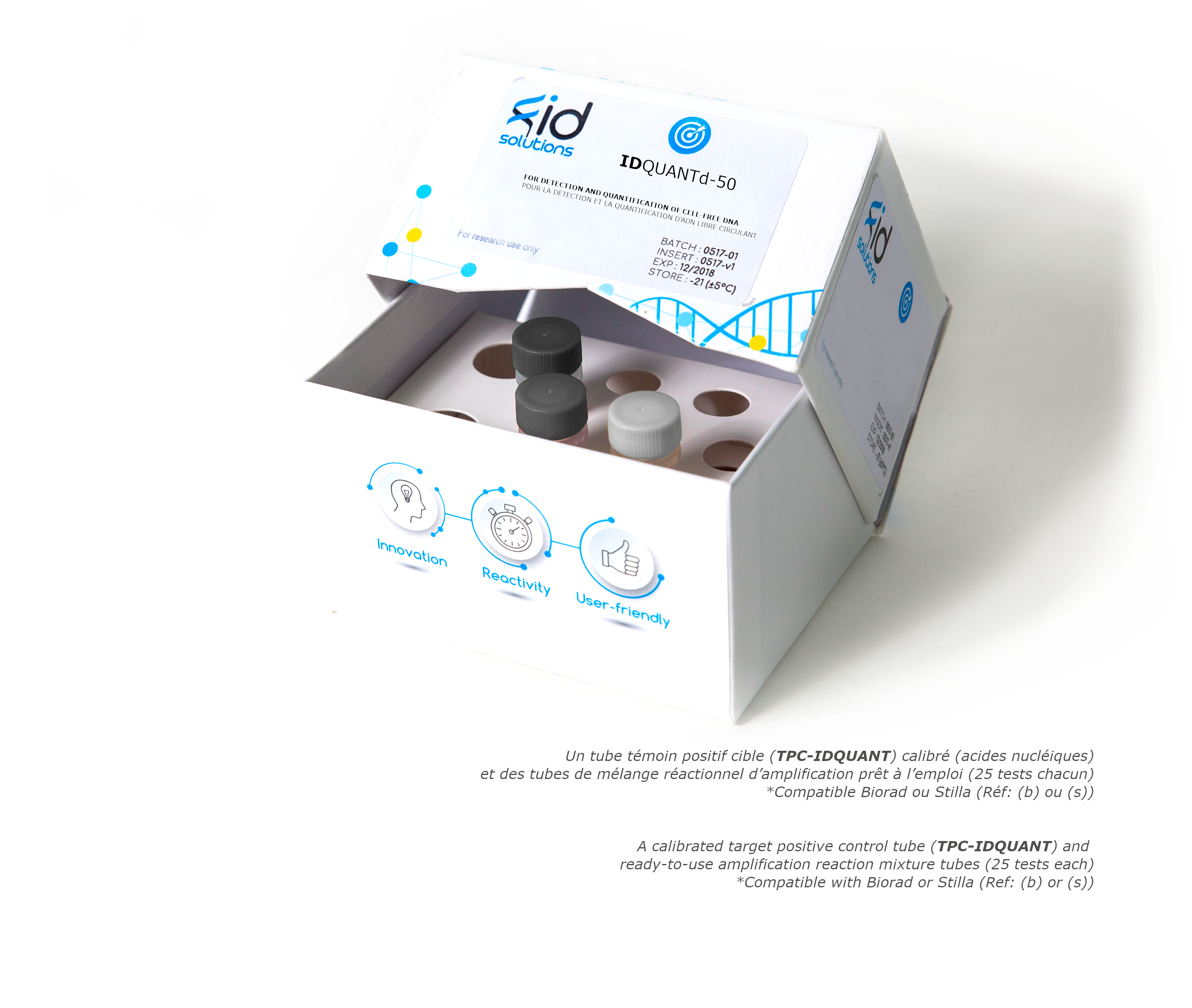 IDQUANTd - cfDNA - detection and quantification Kit using digital PCR