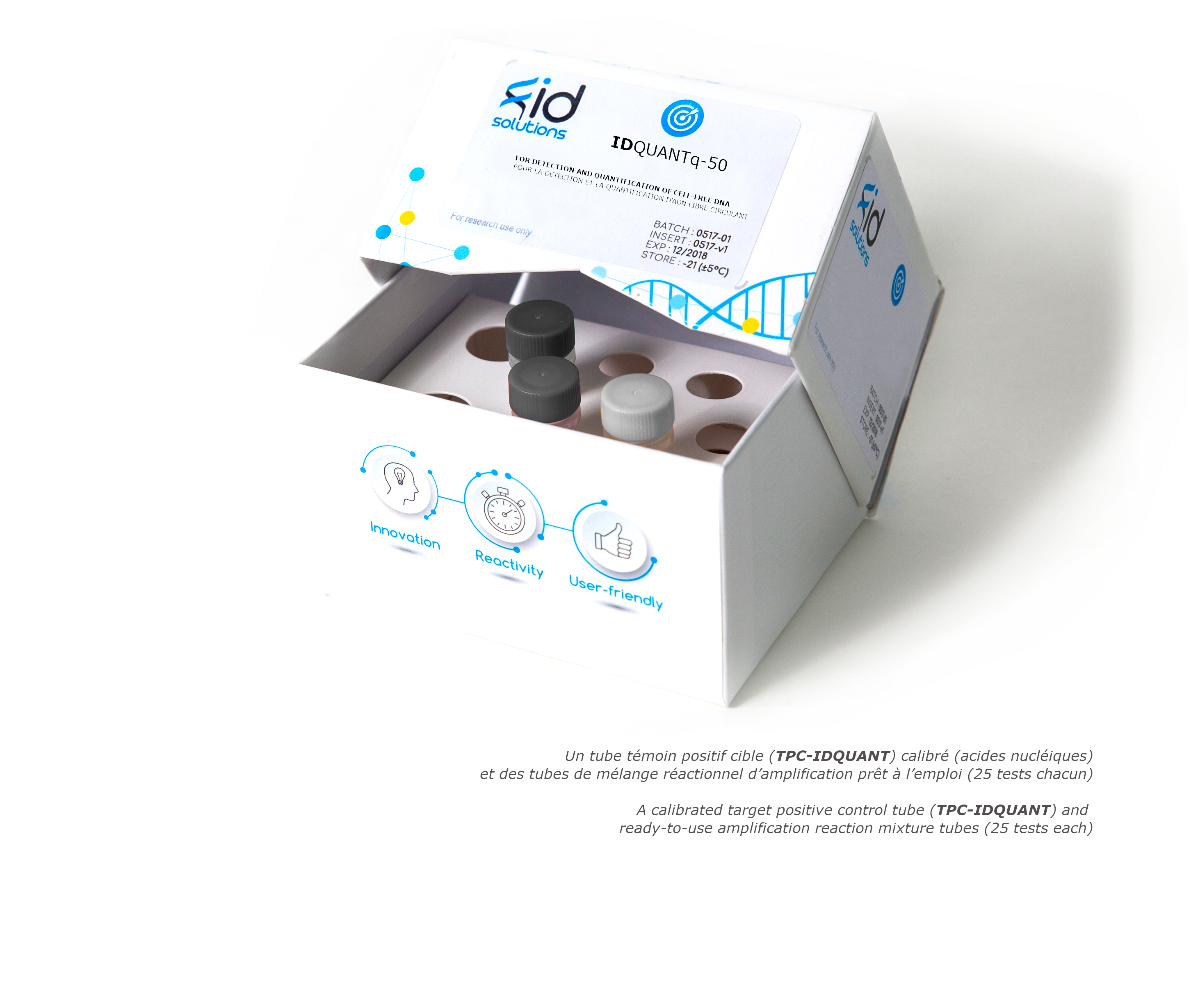 IDQUANTq - circulating cell-free DNA cfDNA detection and quantification Kit using qPCR