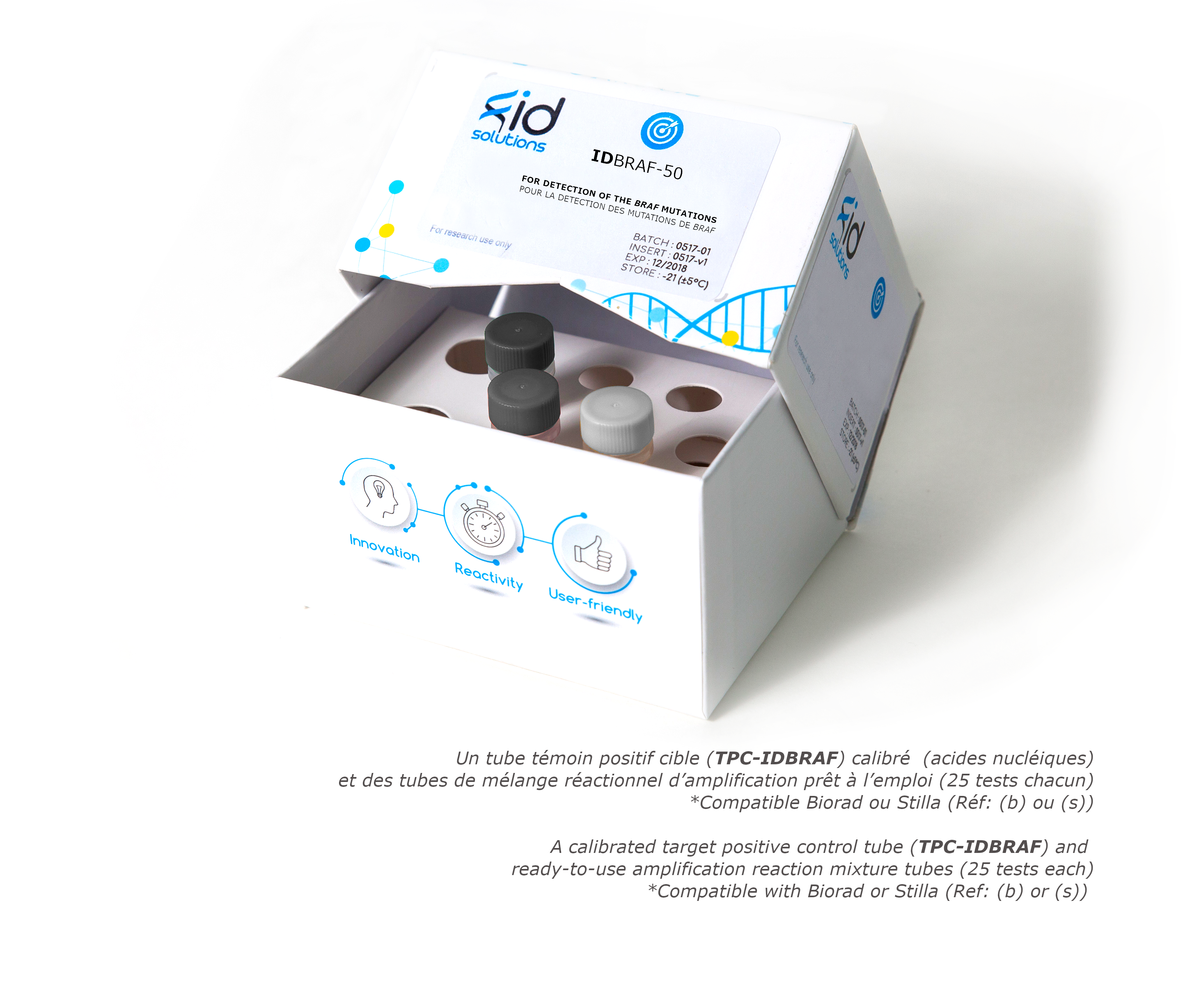 IDBRAF - Circulating tumor DNA BRAF Mutation Detection Kit based on digital PCR
