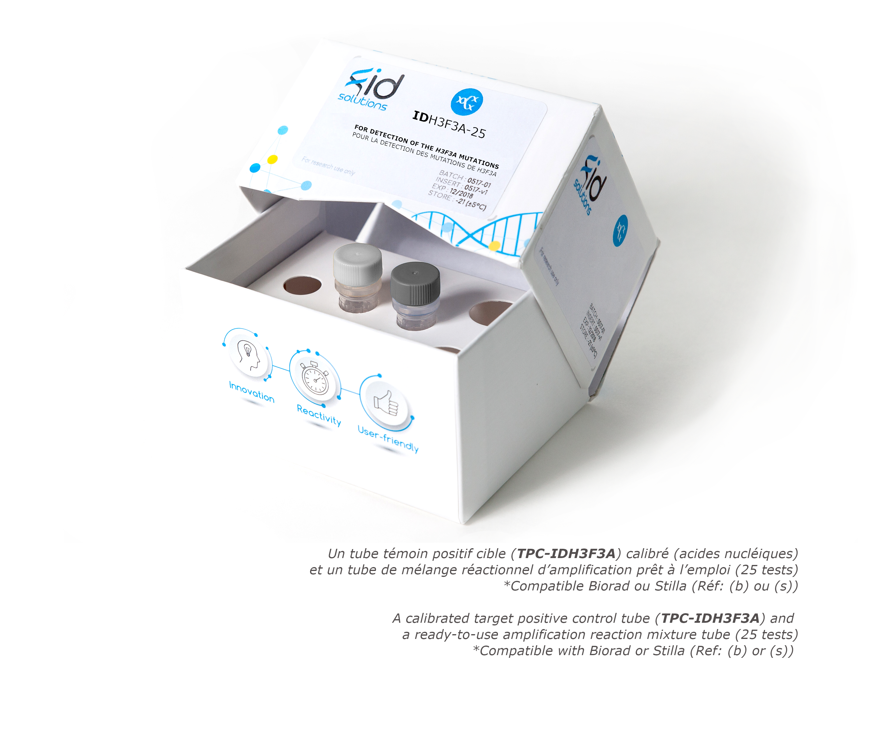 IDH3F3A- Tumor DNA or circulating DNA or ctDNA H3F3A Mutation Detection Kit by Digital PCR