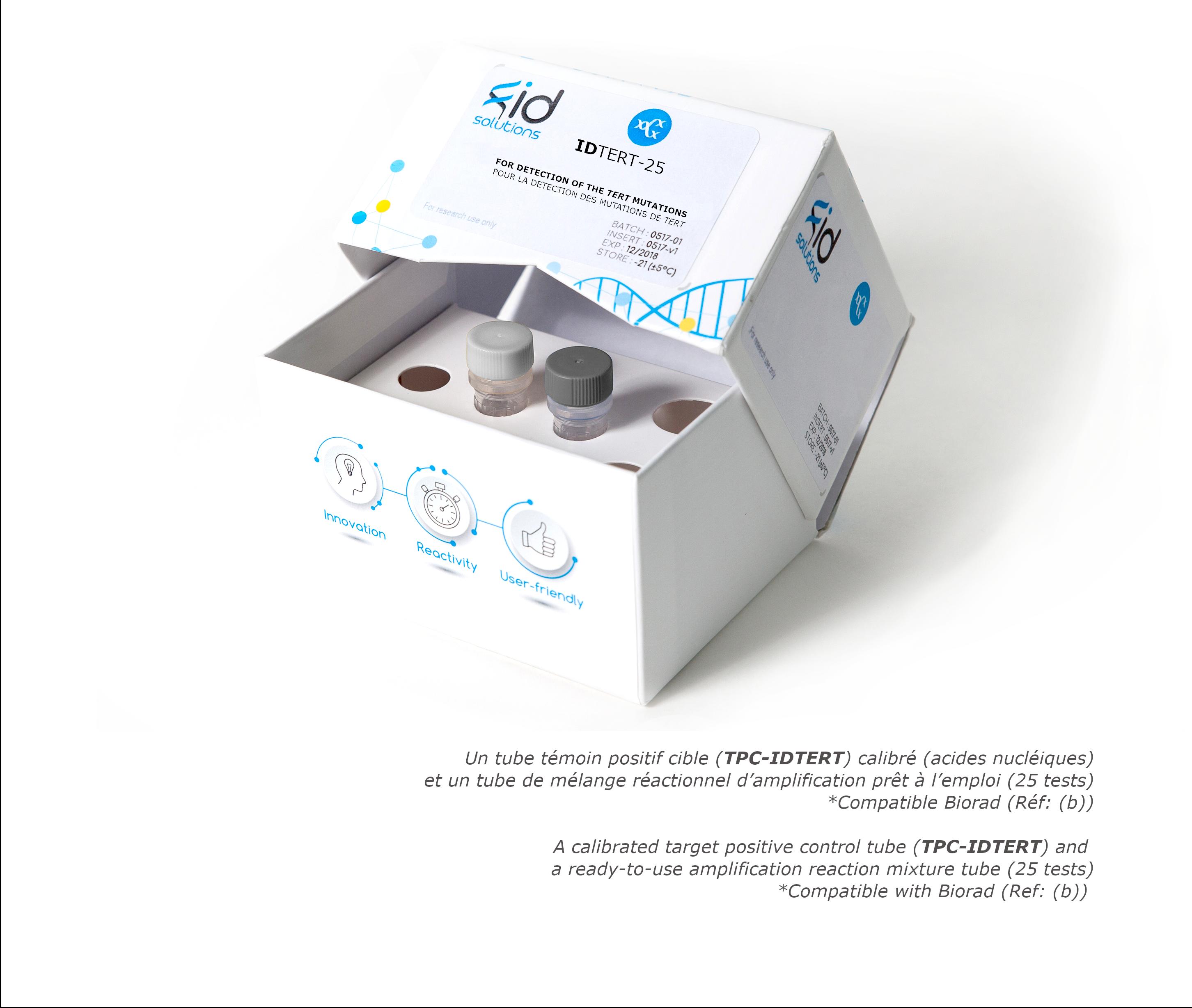 IDTERT- circulating Tumor DNA TERT Mutation Detection Kit based on digital PCR