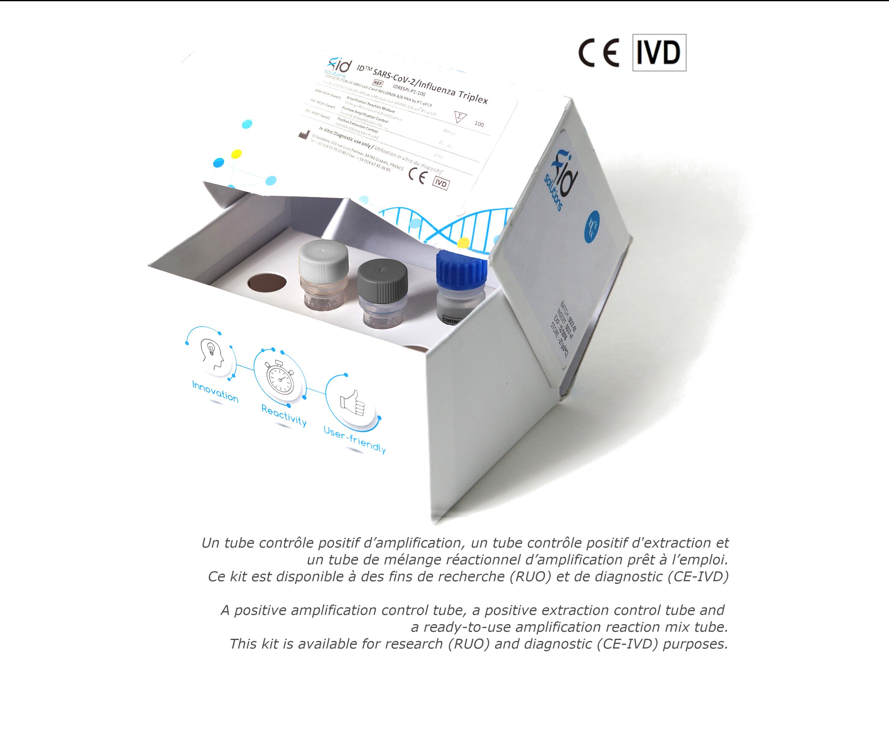 Kit ID™SARS-Cov2 / Influenza Triplex